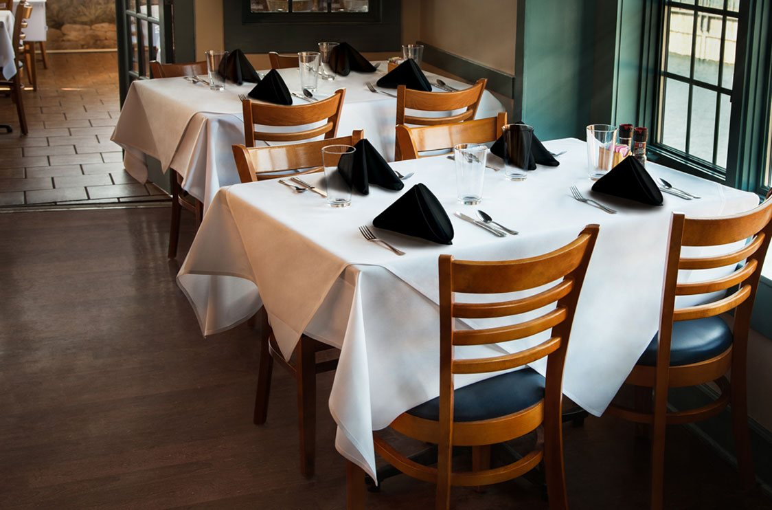Milliken table linens for Table a diner